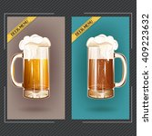 banner  badge or logo beer mug... | Shutterstock .eps vector #409223632