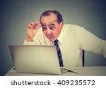 portrait of a shocked man... | Shutterstock . vector #409235572