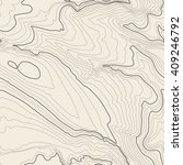 tileable topographic map... | Shutterstock .eps vector #409246792