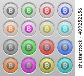 set of bitcoin sticker plastic...