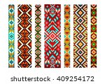 trendy  contemporary ethnic... | Shutterstock .eps vector #409254172