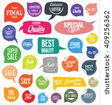 sale stickers and tags... | Shutterstock .eps vector #409256362