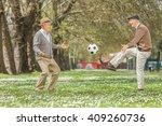 two joyful seniors playing... | Shutterstock . vector #409260736