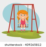 happy little kids design  | Shutterstock .eps vector #409265812