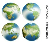 four points of review of planet ... | Shutterstock . vector #40927690