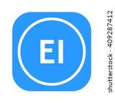 letters ei rounded square shape ... | Shutterstock .eps vector #409287412