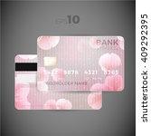 credit card flower design.... | Shutterstock .eps vector #409292395
