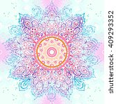 mandala seamless pattern.... | Shutterstock .eps vector #409293352