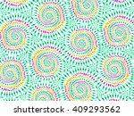 boho tie dye background. hippie ... | Shutterstock .eps vector #409293562