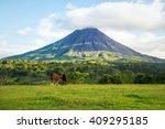 arenal volcano. costa rica | Shutterstock . vector #409295185