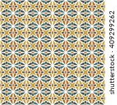 colorful seamless tribal... | Shutterstock .eps vector #409299262