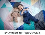 cute 11 month old mixed race... | Shutterstock . vector #409299316