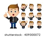 cute set   set of businessman | Shutterstock .eps vector #409300072