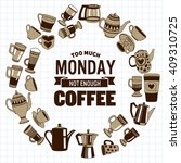 big vector set with coffee... | Shutterstock .eps vector #409310725