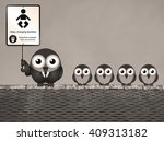 sepia comical baby changing... | Shutterstock . vector #409313182