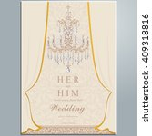 wedding invitation or card with ... | Shutterstock .eps vector #409318816