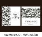 vintage delicate invitation... | Shutterstock .eps vector #409323088