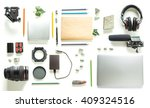 flat lay of photography tools ... | Shutterstock . vector #409324516