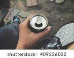 cola can with sunglass | Shutterstock . vector #409326022