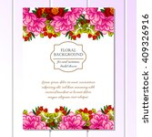 vintage delicate invitation... | Shutterstock .eps vector #409326916