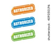 authorized sticker labels | Shutterstock .eps vector #409350196