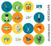 school and education icon set.... | Shutterstock .eps vector #409352698