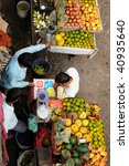 Small photo of Indian Colorfully Huckster's Stands fruit fresh colourful smell delicious