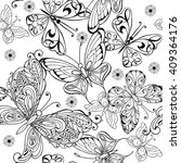 hand drawing seamless pattern... | Shutterstock .eps vector #409364176