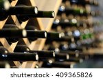 Resting Wine Bottles Stacked O...