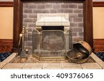 fireplace with accessories   Shutterstock . vector #409376065