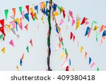 colorful bunting or triangle... | Shutterstock . vector #409380418