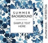 summer camouflage hawaiian... | Shutterstock .eps vector #409383766