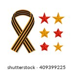 st george striped black and... | Shutterstock .eps vector #409399225