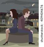 couple at loggerheads | Shutterstock .eps vector #409404676