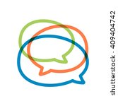 speech bubble line logo. vector ... | Shutterstock .eps vector #409404742