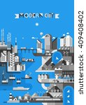 infographic   modern city ... | Shutterstock .eps vector #409408402