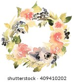 flowers watercolor illustration.... | Shutterstock . vector #409410202