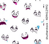 seamless pattern with funny... | Shutterstock .eps vector #409412992