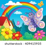 happy butterfly topic image 6   ...   Shutterstock .eps vector #409415935