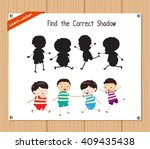 find the correct shadow ... | Shutterstock .eps vector #409435438