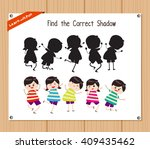 find the correct shadow ... | Shutterstock .eps vector #409435462