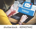 Stock photo email inbox electronic communication graphics concept 409437442