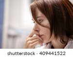 beautiful girl in the office... | Shutterstock . vector #409441522