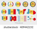 many different styles of flag... | Shutterstock . vector #409442152