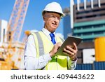 engineer builder at... | Shutterstock . vector #409443622