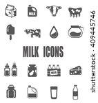 milk flat icon set   eps 10... | Shutterstock .eps vector #409445746