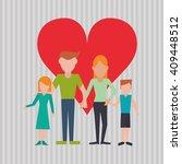 flat illustration of family... | Shutterstock .eps vector #409448512