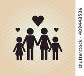 flat illustration of family... | Shutterstock .eps vector #409448536