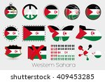 many different styles of flag... | Shutterstock . vector #409453285