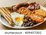 full english breakfast... | Shutterstock . vector #409457302